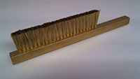 Tufted Strip and Plate Brushes - Brass Wire Strip